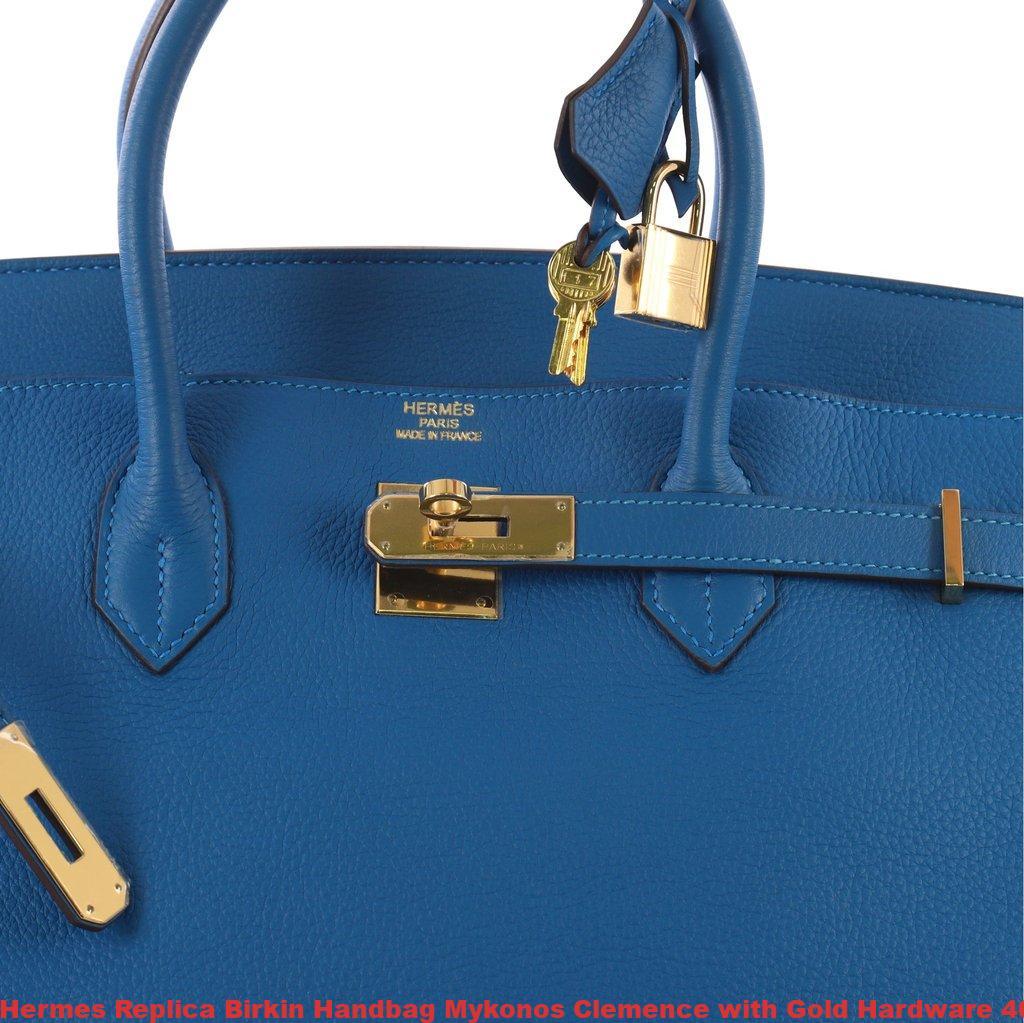 04a982d155d8 Hermes Replica Birkin Handbag Mykonos Clemence with Gold Hardware 40 ...