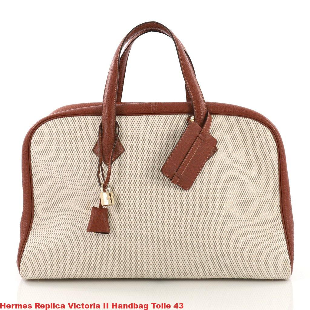 f9087ebc0 Hermes Replica Victoria II Handbag Toile 43 – Designer Replica Hermes –  Hermes Replica – Hermes Belts Replica